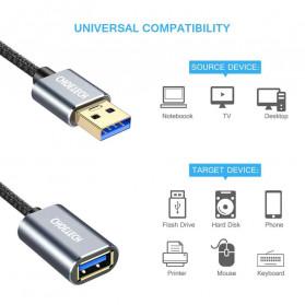 CHOETECH Kabel Extension USB 3.0 2 Meter - XAA001 - Silver - 2