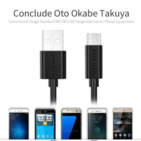 CHOETECH Kabel Charger Micro USB Fast Charging 3A 50cm - SMT0010 - Black - 2