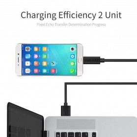 CHOETECH Kabel Charger Micro USB Fast Charging 3A 50cm - SMT0010 - Black - 3