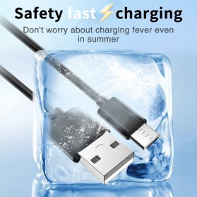 CHOETECH Kabel Charger Micro USB Fast Charging 3A 50cm - SMT0010 - Black - 6