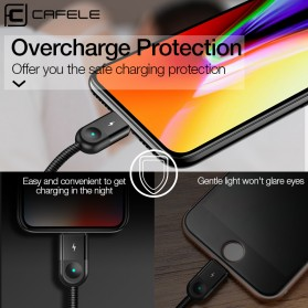 Cafele Kabel Charger 3 in 1 Micro USB + Type C + Lightning 3A - LB9-2-03 - Black - 3