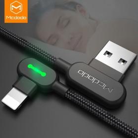 MCDODO Kabel Charger USB Type C Braided L Shape 1.2 Meter - CA-5281 - Black - 3