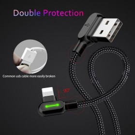 MCDODO Kabel Charger USB Type C Braided L Shape 1.2 Meter - CA-5281 - Black - 5