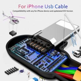 MCDODO Kabel Charger USB Type C Braided L Shape 1.2 Meter - CA-5281 - Black - 8