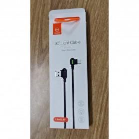 MCDODO Kabel Charger USB Type C Braided L Shape 1.2 Meter - CA-5281 - Black - 10