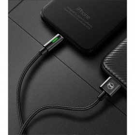 MCDODO Kabel Charger Lightning Fast Charging Auto Disconnect 1.2 Meter - CA-4600 - Black - 2