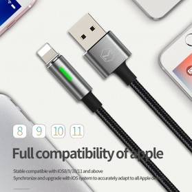 MCDODO Kabel Charger Lightning Fast Charging Auto Disconnect 1.8 Meter - CA-4602 - Black - 2