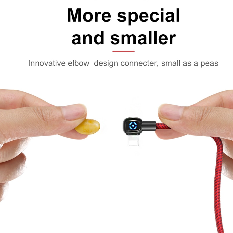 Mcdodo Kabel Charger Lightning Braided L Shape Auto