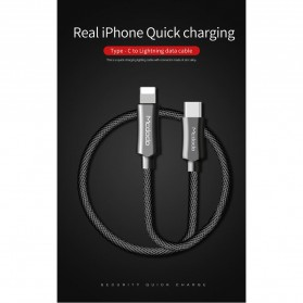 MCDODO Kabel Charger USB Type C to Lightning PD Quick Charge 1.8m - CA-4993 - Black - 2