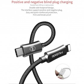 MCDODO Kabel Charger USB Type C to Lightning PD Quick Charge 1.8m - CA-4993 - Black - 8