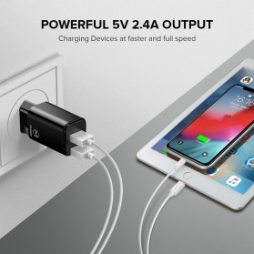 MCDODO Charger USB 2 Port 2.4A  EU Plug - CH-6141 - Black - 4