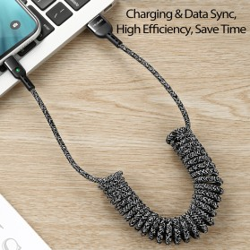 MCDODO Kabel Charger Lightning Spring Cable 1.8 Meter - CA-641 - Black - 3
