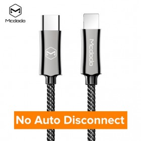MCDODO Kabel Charger USB Type C to Lightning Auto Disconnect 1.2 Meter - CA-642 - Black - 9