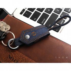 MCDODO Kabel Charger Lightning Knitted Denim Keychain - CA-074 - Blue - 12