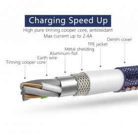 MCDODO Kabel Charger Lightning Knitted Denim Keychain - CA-074 - Blue - 4