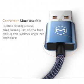 MCDODO Kabel Charger Lightning Knitted Denim Keychain - CA-074 - Blue - 9
