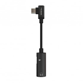 MCDODO Adapter 3 in 1 USB Type C to AUX 3.5mm + USB Type C - Black - 2