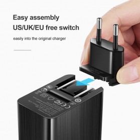 MCDODO Travel Charger 2 Port QC3 USB Type C PD with EU US UK Plug - JY-350 - Black - 3