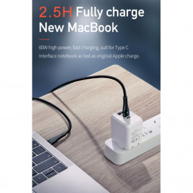 Mcdodo Kabel Charger USB Type C QC4.0 3A 60W 2 Meter - Black - 8