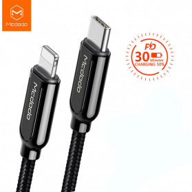 MCDODO Kabel Charger USB Type C to Lightning PD Quick Charge 36W 1.8m - CA-687 - Black