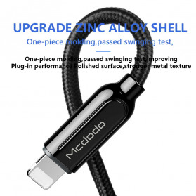 MCDODO Kabel Charger USB Type C to Lightning PD Quick Charge 36W 1.8m - CA-687 - Black - 4