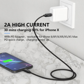 MCDODO Kabel Charger USB Type C to Lightning PD Quick Charge 36W 1.8m - CA-687 - Black - 6