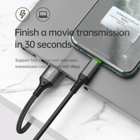 MCDODO Kabel Charger Lightning Fast Charging Auto Disconnect 3A 1.8 Meter - CA-7411 - Black - 6