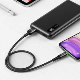MCDODO Kabel Charger Lightning Fast Charging Auto Disconnect 3A 1.8 Meter - CA-7411 - Black - 7