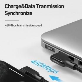 MCDODO Kabel Charger Lightning Cable Spring L Shape 1.8 Meter - CA-7300 - Black - 2