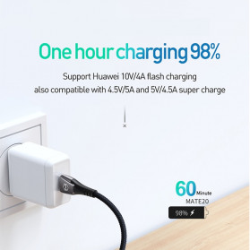 MCDODO Kabel Charger USB Type C Super Fast Charging Auto Disconnect 5A 1.5 Meter - CA-679 - Black - 3