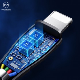 MCDODO Kabel Charger 3 in 1 Type C + Lightning + Micro USB 1.2 Meter - CA-696 - Black - 4