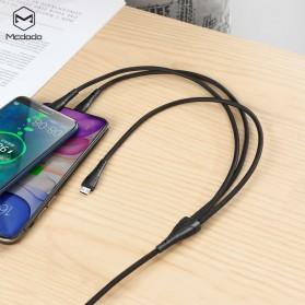 MCDODO Kabel Charger 3 in 1 Type C + Lightning + Micro USB 1.2 Meter - CA-696 - Black - 6