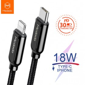 MCDODO Kabel Charger USB Type C to Lightning PD Quick Charge 1.8m - CA-6871 - Black