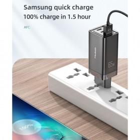 MCDODO GaN Charger USB Type C QC4 PD 3 Port 65W - CA-792 - Black - 3