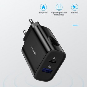 MCDODO Charger USB Type C PD QC4.0 2 Port 20W - CH-8411 - Black - 6