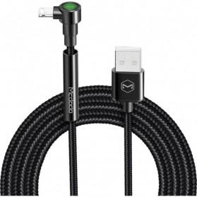 MCDODO Kabel Charger Lightning L Shape 2.4A 1.8 Meter - CA-667 - Black