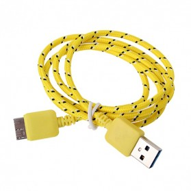 Taffware Kabel Data USB A ke Micro B USB 3.0 Braided - Yellow