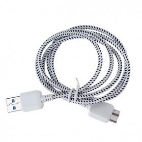 Taffware Kabel Data USB A ke Micro B USB 3.0 Braided - White