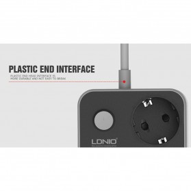 LDNIO Stop Kontak 3 EU Socket with USB Charger 6 Port 10A - SE3631 - Black - 5