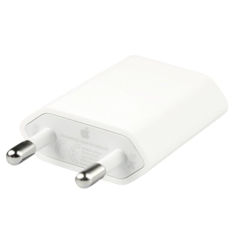 Apple USB Travel Charger 1A EU Plug Original - A1400 - White
