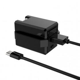 Travel Charger Smartphone USB Type C 2 Port 3.1A - RK-C001 - Black - 4