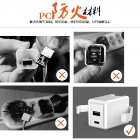 Travel Charger Smartphone USB Type C 2 Port 3.1A - RK-C001 - Black - 9