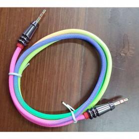 Kongyide Kabel Audio AUX 3.5mm Male to Male Heavy Metal Head 1 Meter - AV115 - Mix Color - 2