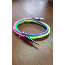 Kongyide Kabel Audio AUX 3.5mm Male to Male Heavy Metal Head 1 Meter - AV115 - Mix Color - 3