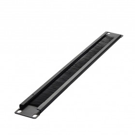 Server Rakitan - LEORY Rack Mount IT Network Cabinet Brush Panel Bar Cable Management 1U 19 Inch - 1931 - Black