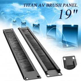 LEORY Rack Mount IT Network Cabinet Brush Panel Bar Cable Management 1U 19 Inch - 1931 - Black - 2