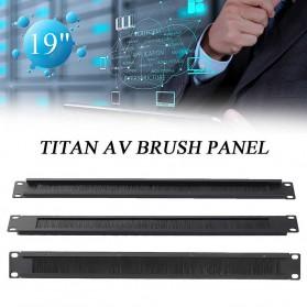 LEORY Rack Mount IT Network Cabinet Brush Panel Bar Cable Management 1U 19 Inch - 1931 - Black - 3