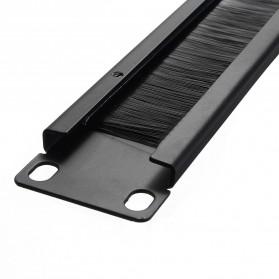 LEORY Rack Mount IT Network Cabinet Brush Panel Bar Cable Management 1U 19 Inch - 1931 - Black - 4