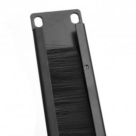 LEORY Rack Mount IT Network Cabinet Brush Panel Bar Cable Management 1U 19 Inch - 1931 - Black - 5