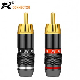 RConnect Kepala Plug RCA Connector Head Gold Plated Male 1 PCS - N1001 - Black